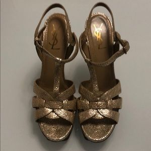 Authentic YSL special edition TRIBUTE sandals!